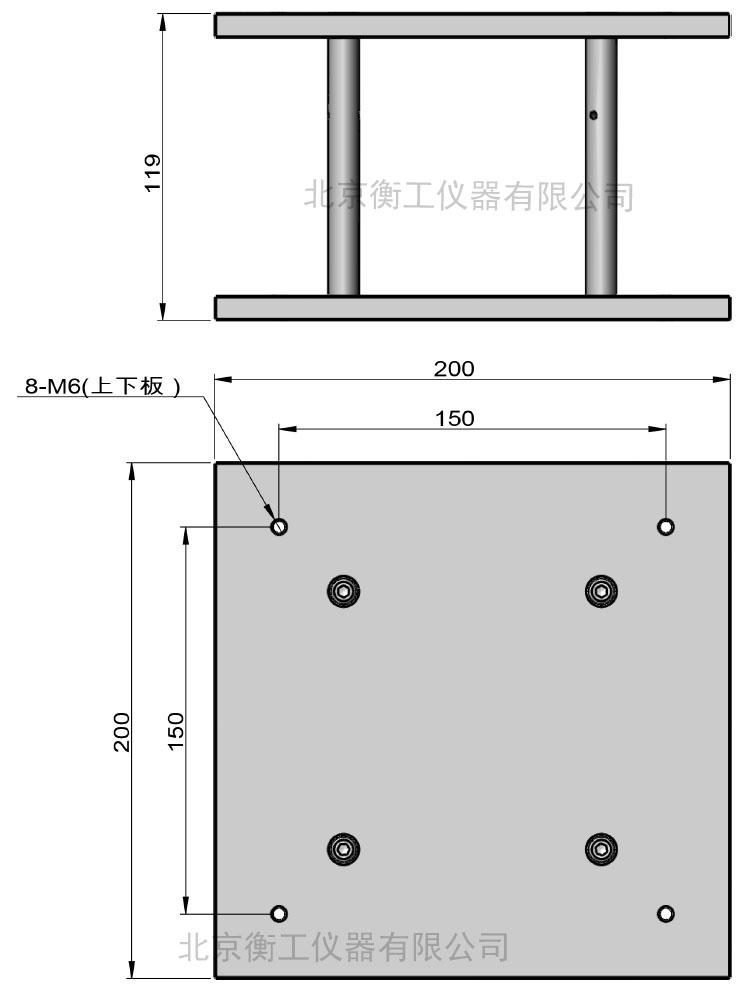 新版亚博体育app下载HGM1H3尺寸外形图